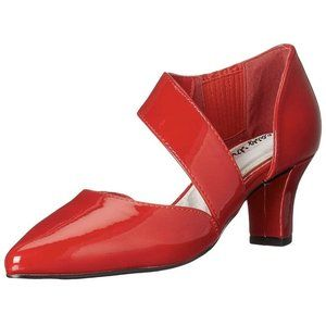 Easy Street Red Patent Dashing High Heels Size 9 P